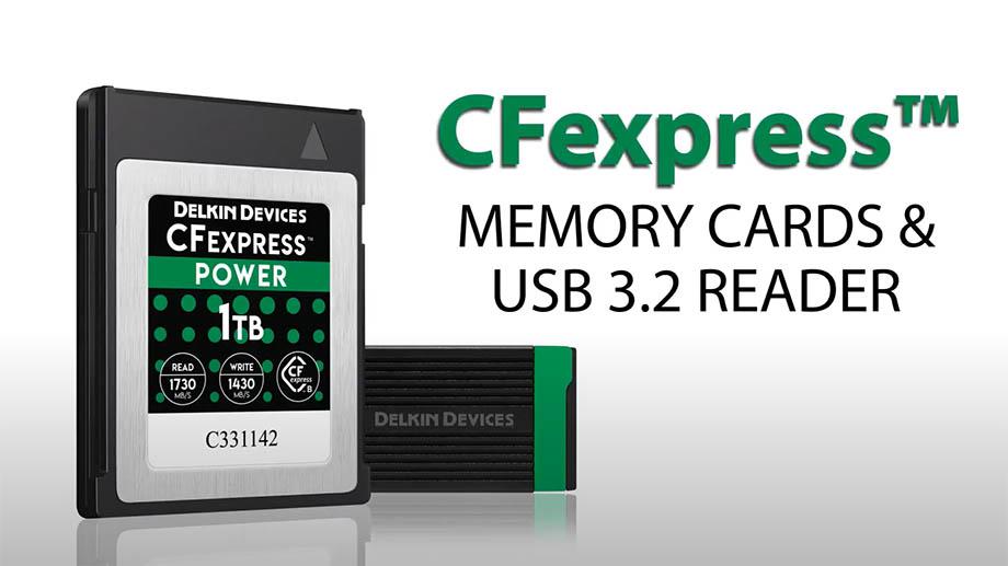 Delkin анонсировала карту памяти CFexpress Type B объемом 2 ТБ