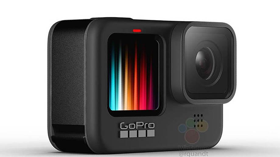 Внешний вид камеры GoPro Hero 9 Black полностью раскрыт