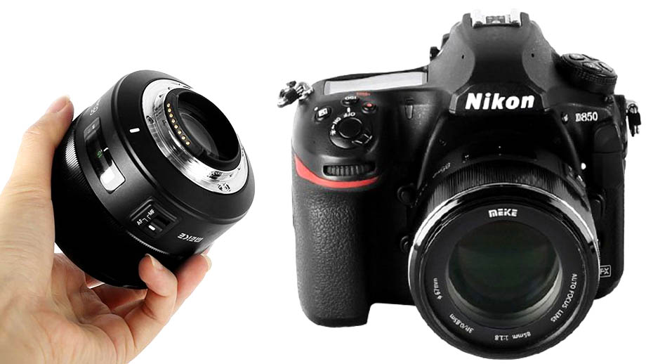 Автофокусный объектив Meike 85mm f/1.8 для Nikon F-mount за $190