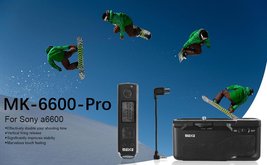 Meike Mk-A6600 Pro: батарейная ручка с пультом ДУ для Sony a6600 за $80