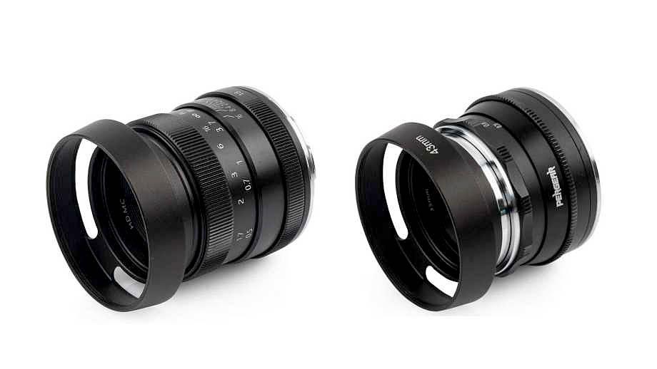 Два объектива от компании Pergear – 50mm f/1.8 и 35mm f/1.6