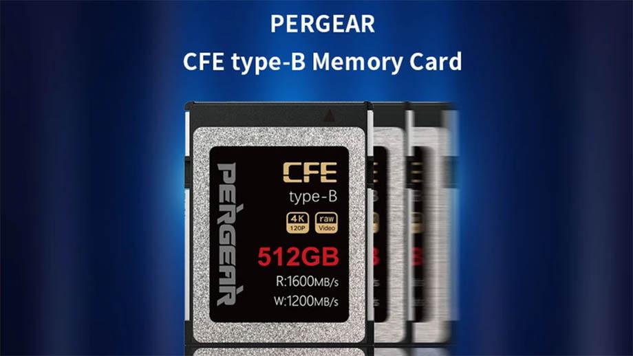 Китайская карта памяти CFExpress Type B от PERGEAR на 512 ГБ за $329