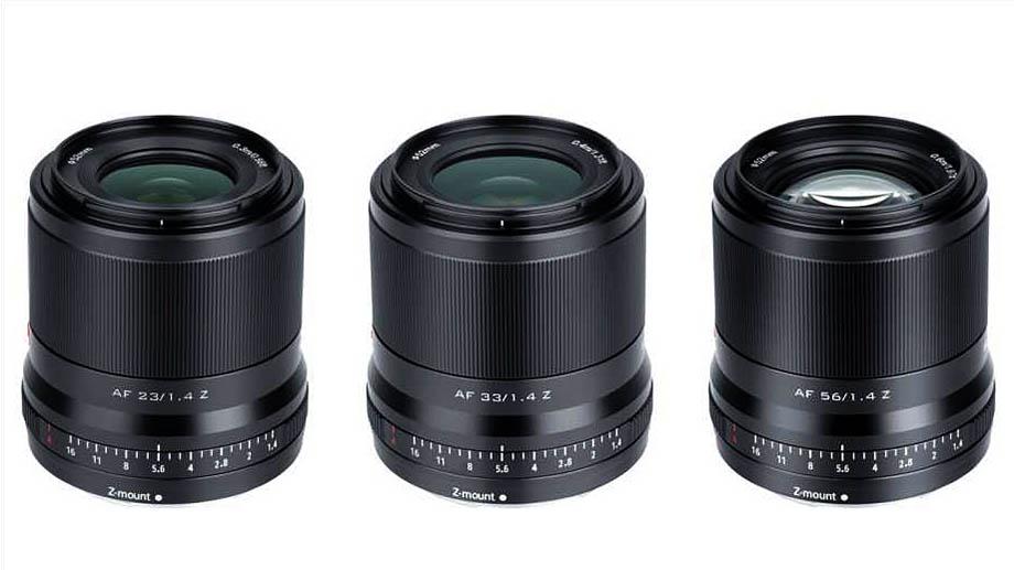 Начинаются продажи объективов Viltrox AF 23/1.4 Z,  AF 33/1.4 Z и  AF 56/1.4 Z