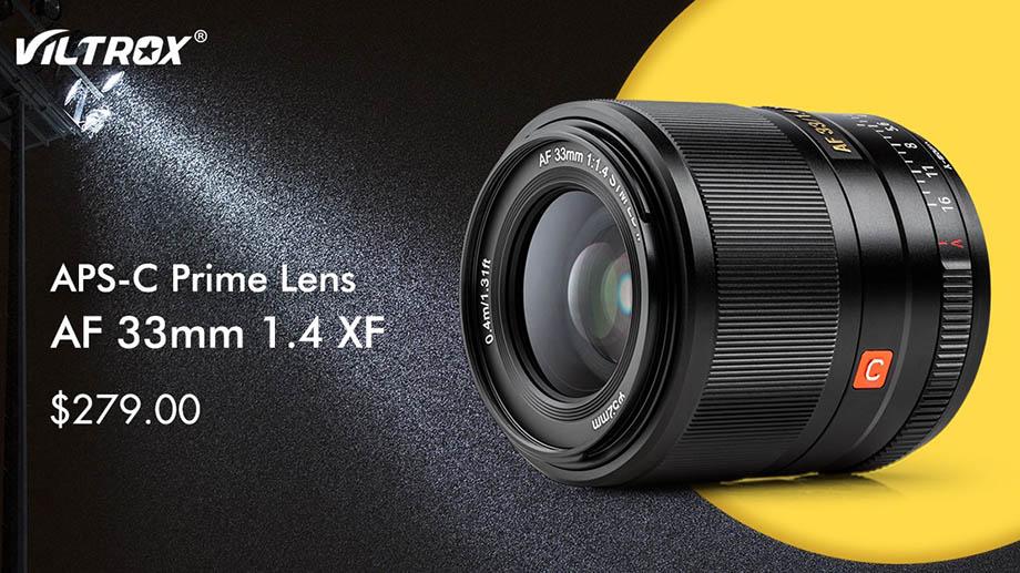 Viltrox XF33mm f/1.4 появится в продаже 15 апреля за $280