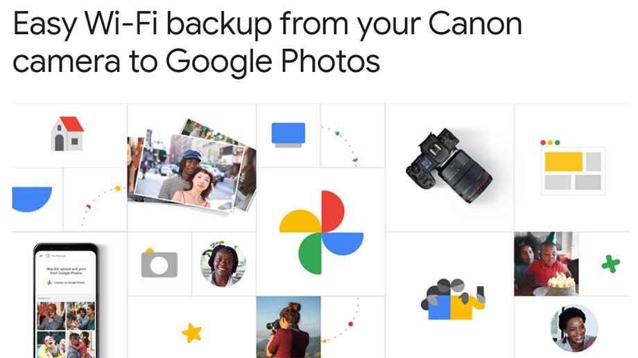 Камеры Canon теперь могут автоматически сохранять резервные копии в Google Photos
