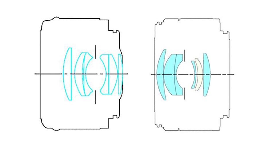 Сравнение конструкций объективов Canon EF 50mm f/1.8 STM и Canon RF 50mm f/1.8 STM