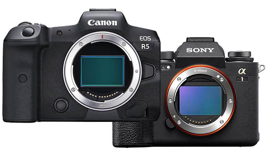 Датчик Canon EOS R5 vs датчика Sony a1 BSI