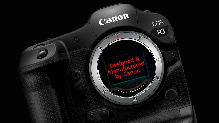 Сенсор EOS R3 разработан и производится компанией Canon