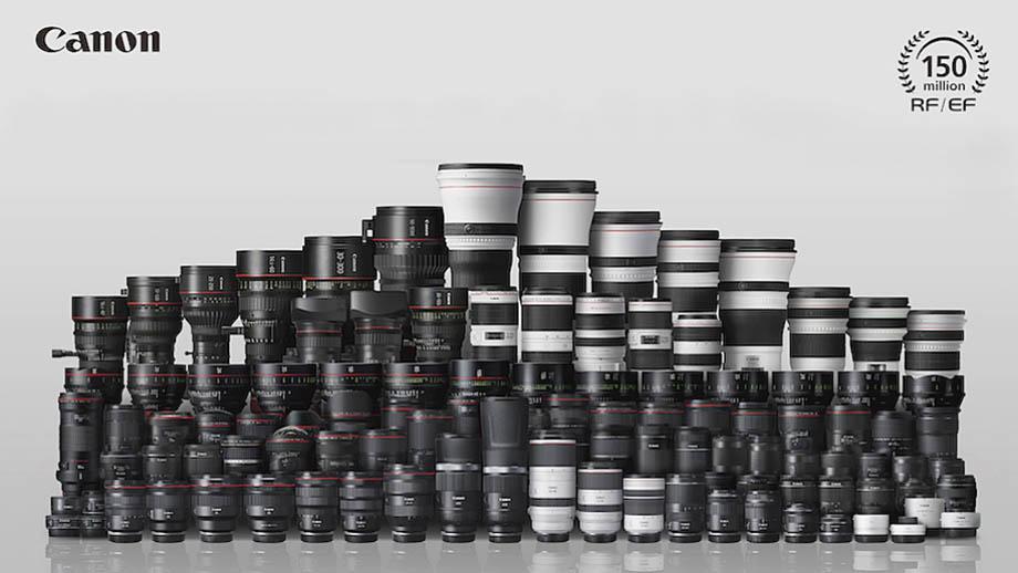 Canon выпустил 150 миллионов объективов