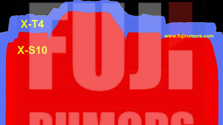 Сравнение размеров камер Fujifilm X-S10 и Fujifilm X-T4