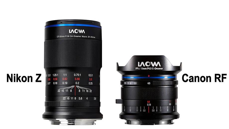 Представлены Laowa 11mm F4.5 FF RL для Canon RF и Laowa 65mm F2.8 2x для Nikon Z