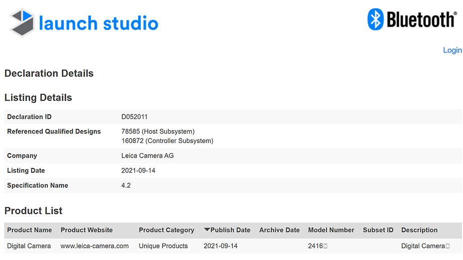 Камера Leica прошла процедуру сертификации Bluetooth'а