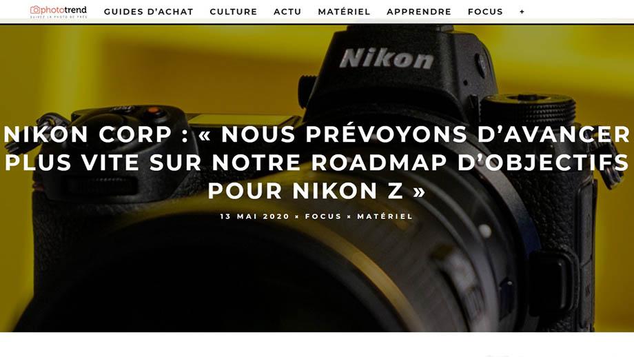 Интервью Nikon: в приоритете оба байонета, а для Nikon Z будет больше объективов