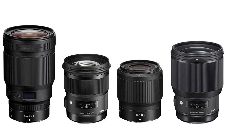 Сравнение Nikkor Z 50mm f/1.2 S с Sigma 50mm f/1.4 DG HSM Art