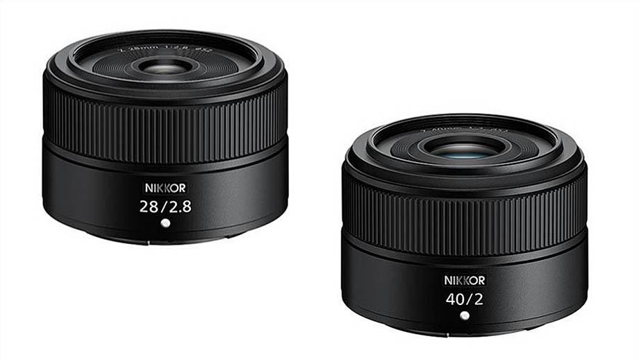 Вместе с камерой Nikon Z fc представят Nikkor Z 28mm F2.8 и 40mm F2.0