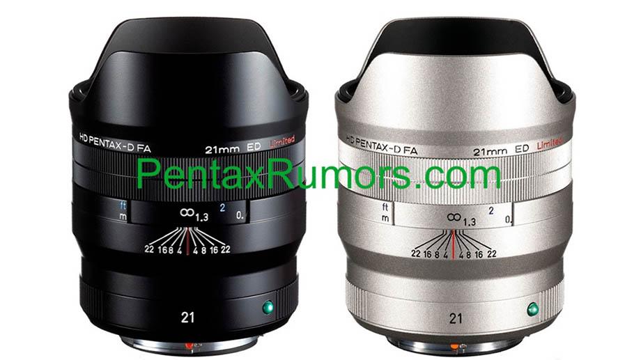 В сеть попали фотографии объектива HD Pentax-D FA 21mm F2.4 ED