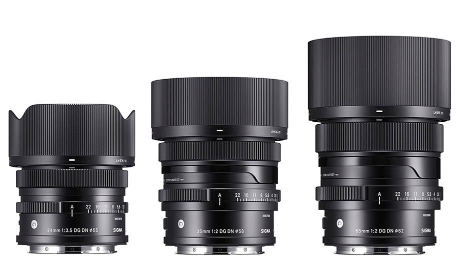 Sigma представит объективы 24mm F3.5, 35mm F2 и 65mm F2 DG DN для байонетов E и L