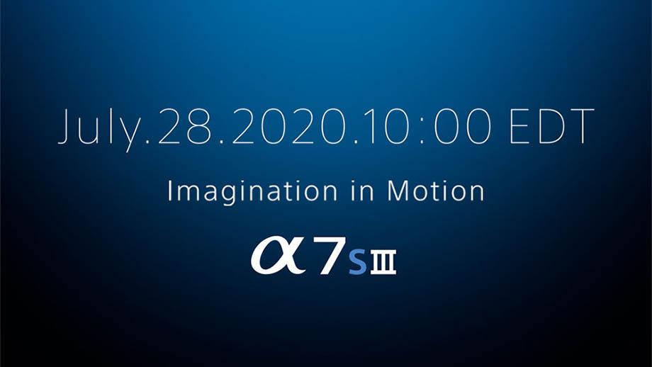 Sony A7S III будет официально представлена 28 июля
