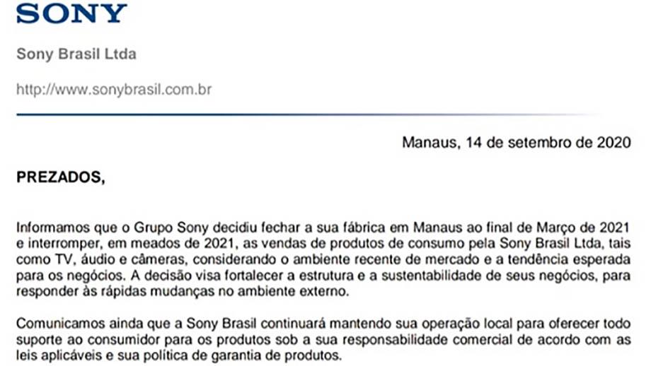 Sony покидает рынок Бразилии и приостановит там продажи камер