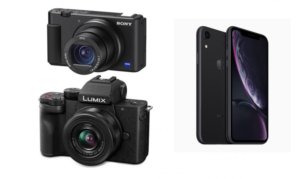 Влогерские Sony ZV-1 и Panasonic G100 против iPhone XR