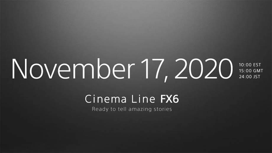 Кинокамеру Sony FX6 представят 17 ноября