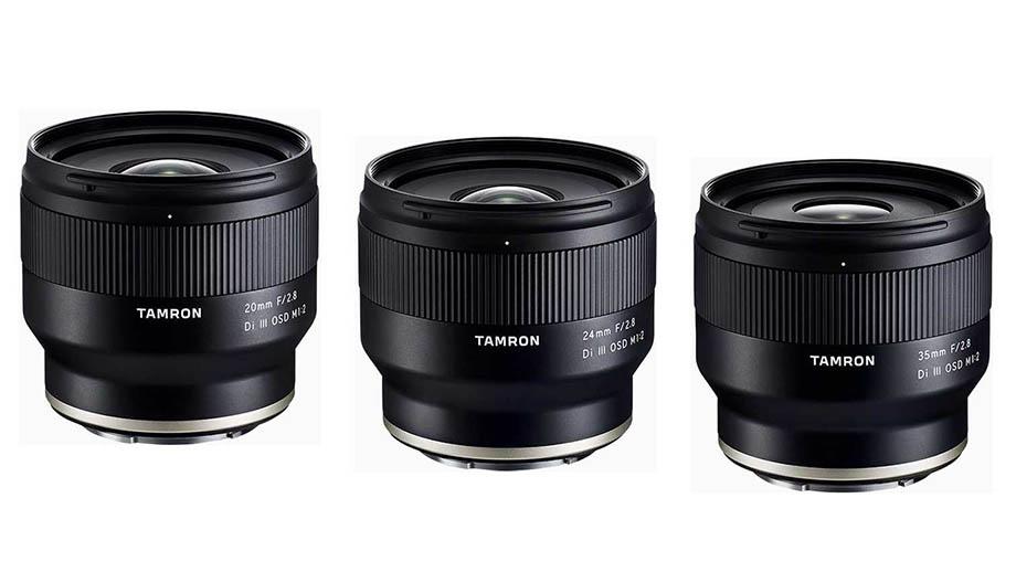 Обновления прошивок объективов Tamron 20mm, 24mm, 35mm под Sony E