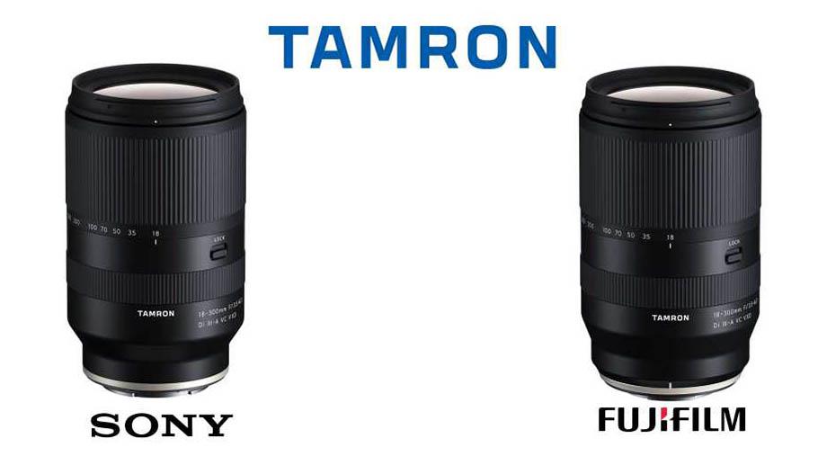 Представлен Tamron 18-300mm F3.5-6.3 Di III-A VC VXD для Fuji и Sony
