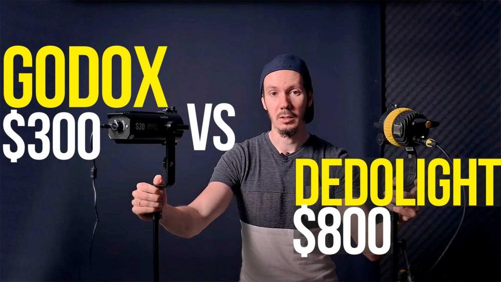 Обзор Godox S30 vs Dedolight DLED 4.1 | Сравнение постоянного света за $300 и $800