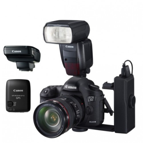 EOS 5D Mark III, Speedlite 600EX-RT, Speedlite ST-E3-RT, WFT-E7, GP-E2, BG-E11